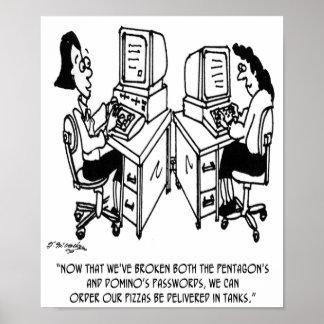 Sicherheits-Cartoon 4348 Poster