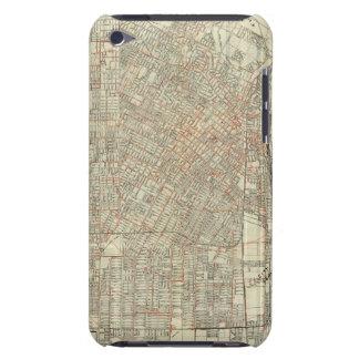 Sicherheits-Karte und Straßen-Eisenbahnen in Los Barely There iPod Etuis