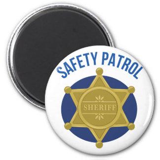 Sicherheits-Patrouille Runder Magnet 5,7 Cm