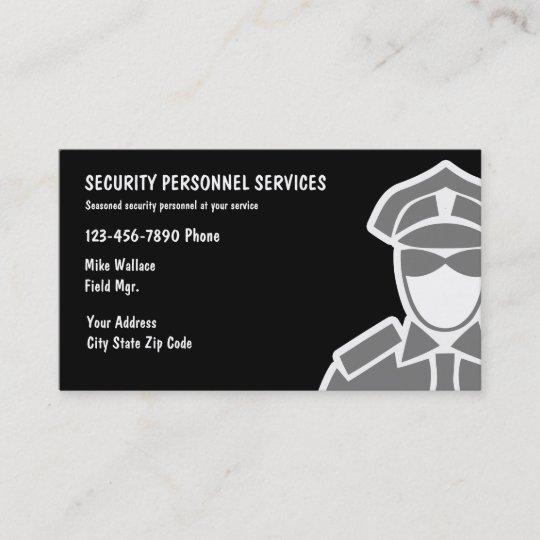 Sicherheitsdienst Visitenkarten Visitenkarte Zazzle De