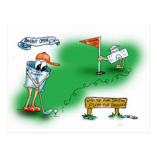 Sicherheitsleistung offen - Golf Postkarte