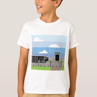 Sichern Sie Anlagen-Gefangenenlager T-Shirt