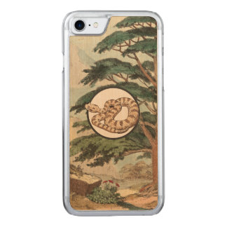 Sidewinder in der natürlicher carved iPhone 8/7 hülle