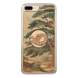 Sidewinder in der natürlicher carved iPhone 8 plus/7 plus hülle