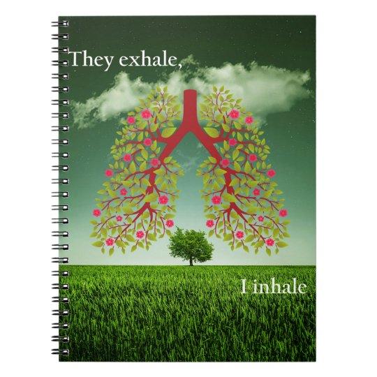 Sie atmen, ich inhalieren aus spiral notizbücher