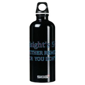 Sie der Nachsicht 50/50 entweder erinnern sich, Wasserflasche