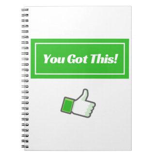 Sie erhielten dieses! - Notizbuch Notizblock