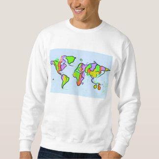 Sie fügen Farbe diesem Planeten hinzu Sweatshirt