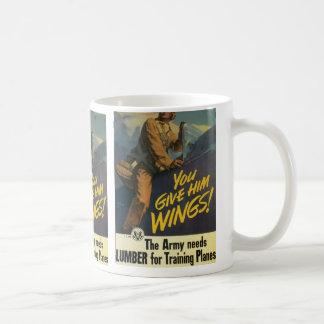 Sie geben ihm Flügel! Kaffeetasse