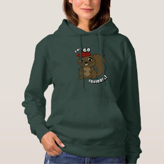 Sie gehen der Hoodie der Eichhörnchen-Frauen