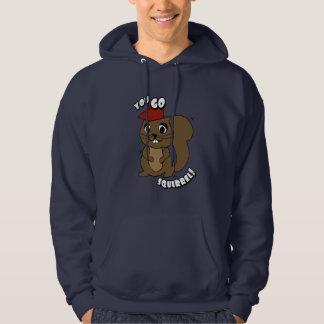 Sie gehen der Hoodie der Eichhörnchen-Männer
