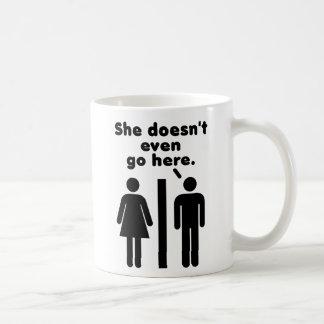 Sie geht nicht einmal hier kaffeetasse