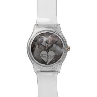 Sie gemeine Otter-Welt zu mir Otter-Liebe-Küssen Armbanduhr