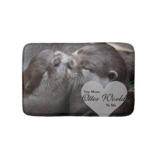 Sie gemeine Otter-Welt zu mir Otter-Liebe-Küssen Badematte