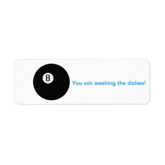 Sie gewinnen waschendes Geschirr Kleiner Adressaufkleber