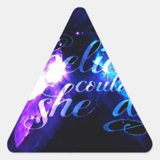 Sie glaubte an Anzeige Amorem Amisi Dreieckiger Aufkleber