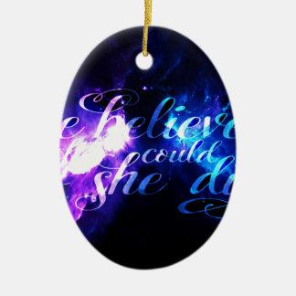 Sie glaubte an Anzeige Amorem Amisi Keramik Ornament