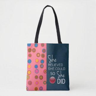 Sie glaubte, dass sie (Polka-rosa aquamarines) Tasche