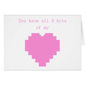 Sie haben alle 8 Bits meines Herzens Karte
