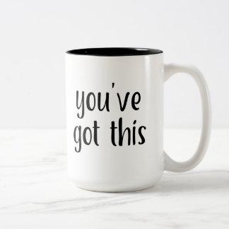 Sie haben dieses: Inspirieren, einfaches Zweifarbige Tasse