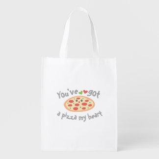 Sie haben eine Pizza mein Herz lustiger Punny Wiederverwendbare Einkaufstasche