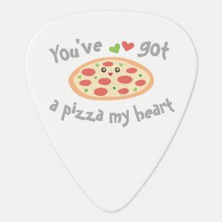 Sie haben eine Pizza mein Herz-niedliches lustiges Plektrum