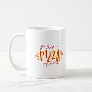 Sie haben eine Pizza meine Herz-Kaffee-Tasse Kaffeetasse