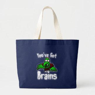Sie haben Gehirne - Weiß Jumbo Stoffbeutel
