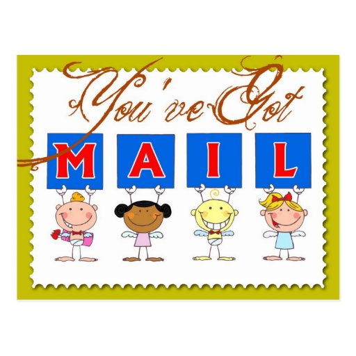 Sie haben Post! Postkarte