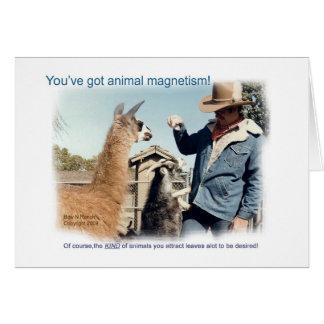 Sie haben Tiermagnetismus-Karte Karte