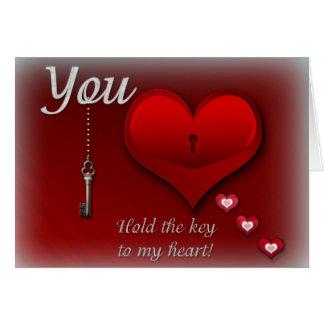Sie halten den Schlüssel zu meinem Herzen Karte
