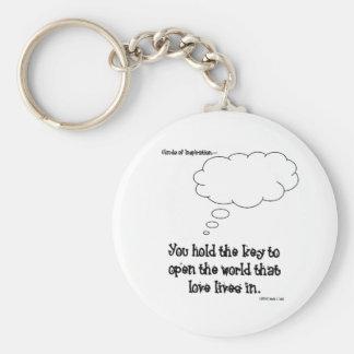 Sie halten den Schlüssel zur Liebe (keychain) Schlüsselanhänger