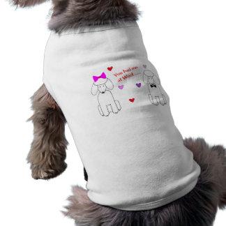 Sie hatten mich am Schuss-Pudel Ärmelfreies Hunde-Shirt