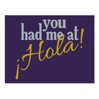 Sie hatten mich bei Hola! Postkarte