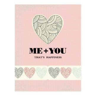 Sie + Ich = Glück Postkarte