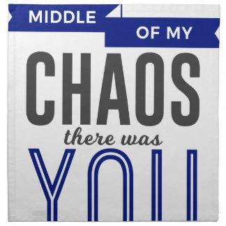 Sie im Chaos Serviette