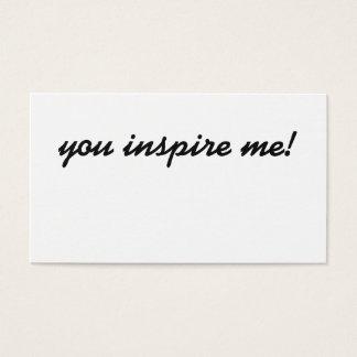Sie inspirieren mich! Visitenkarte
