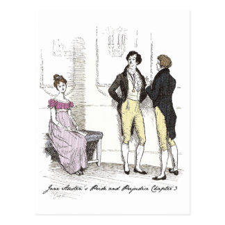 Sie ist erträgliches… Jane Austen P&P CH3 Postkarte