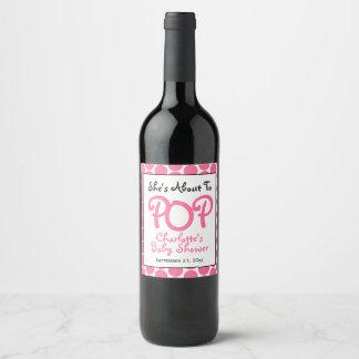 Sie ist ungefähr Pop-zur personalisierten Weinetikett
