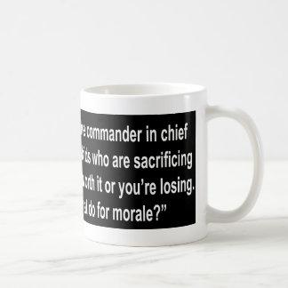 Sie kippen haben einen Kommandanten - herein - Kaffeetasse