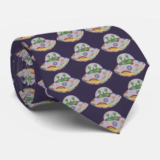 Sie kommen in Friedens-UFO Krawatte