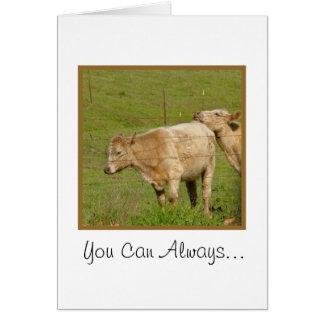 Sie können auf mir - Kühe immer lehnen Karte