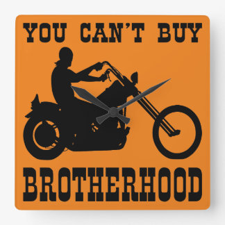 Sie können Bruderschaft (Radfahrer) nicht kaufen Quadratische Wanduhr