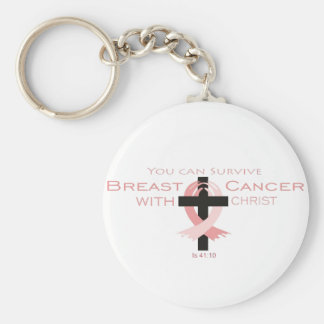Sie können Brustkrebs mit Christus Keychain Schlüsselanhänger