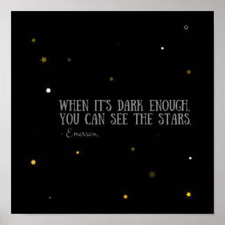 Sie können das Sterne Emerson-Zitat sehen Poster