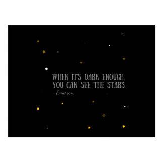 Sie können das Sterne Emerson-Zitat sehen Postkarte