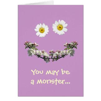 Sie können ein Monster, aber i-Liebe sein Sie! Grußkarte