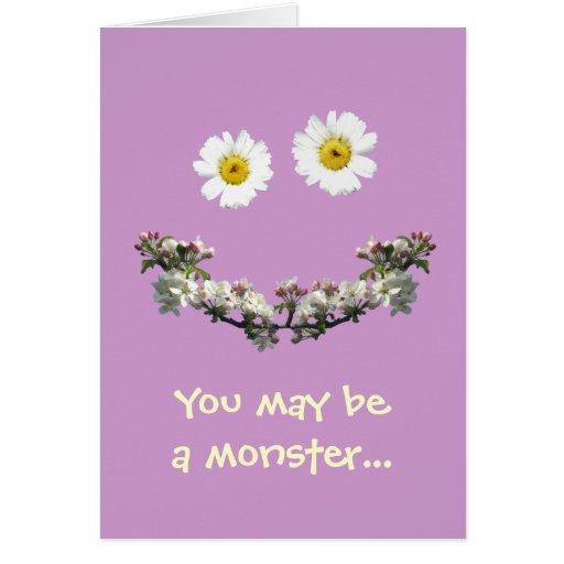 Sie können ein Monster, aber i-Liebe sein Sie! Karte