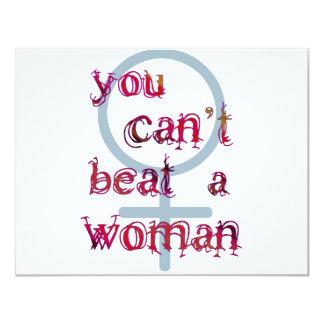Sie können eine Frau nicht schlagen 10,8 X 14 Cm Einladungskarte