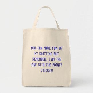 Sie können euch über meinem Stricken lustig machen Einkaufstaschen